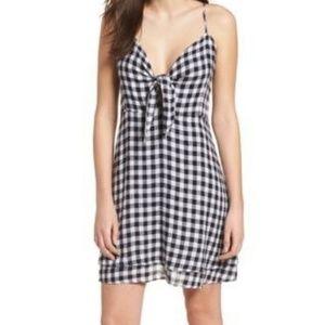 Rails August Gingham Tie front Mini Dress